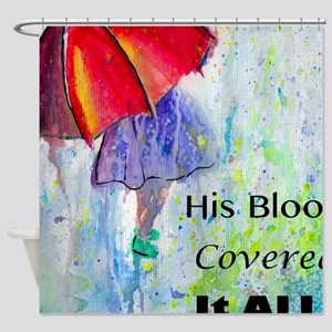First Red Umbrella Shower Curtain