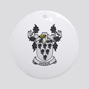 SAVAGE Coat of Arms Ornament (Round)