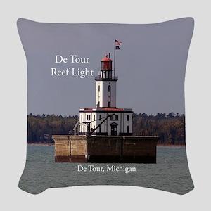 De Tour Reef Light Woven Throw Pillow