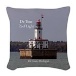 De Tour Reef Light Woven Throw Pillow
