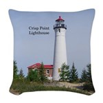 Crisp Point Lighthouse Woven Throw Pillow
