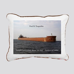 Paul R. Tregurtha Rectangular Canvas Pillow