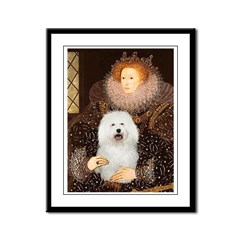 The Queen's Bolognese Framed Panel Print