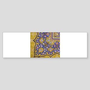 Arabian Floral Pattern Bumper Sticker