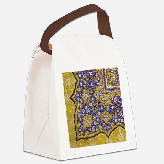 Arabian Floral Pattern Canvas Lunch Bag