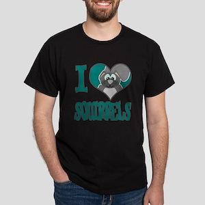 I Love (Heart) Squirrels Dark T-Shirt