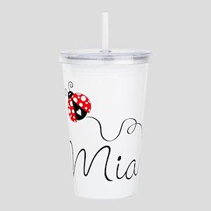 Ladybug Mia Acrylic Double-Wall Tumbler