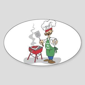 BBQ Chef Oval Sticker