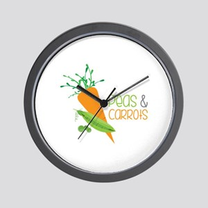 Peas&Carrots Wall Clock