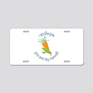I Am The Pea You Are My Carrot! Aluminum License P