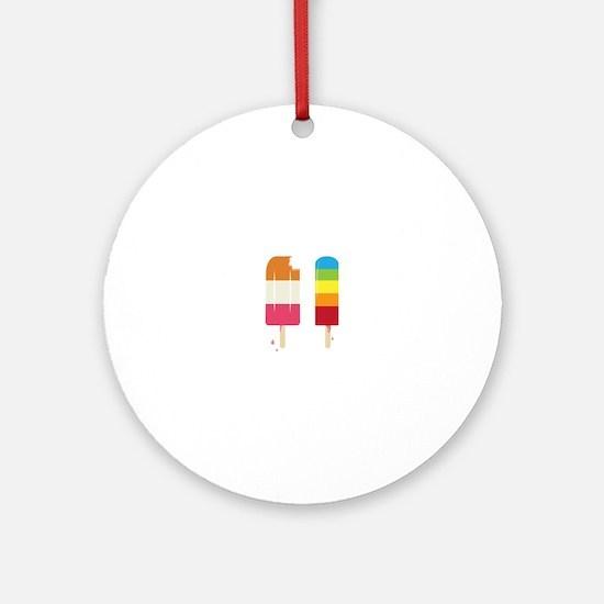 Frozen Popsicle Ornament (Round)