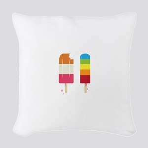 Frozen Popsicle Woven Throw Pillow