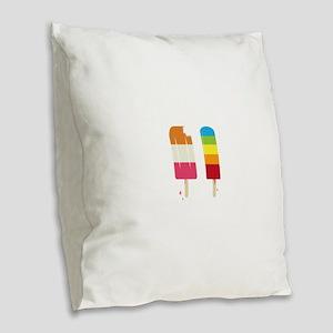 Frozen Popsicle Burlap Throw Pillow