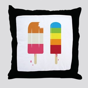 Frozen Popsicle Throw Pillow
