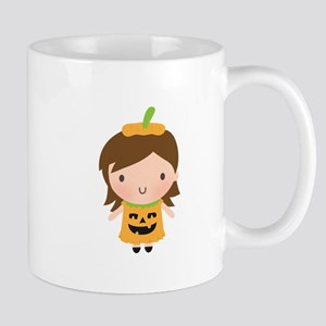 cute Jack o lantern Pumpkin Girl Halloween Mugs
