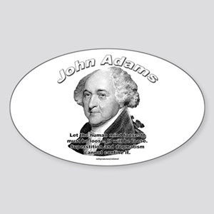 John Adams 03 Oval Sticker