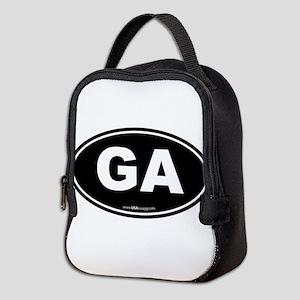 Georgia GA Euro Oval Neoprene Lunch Bag