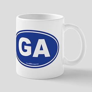 Georgia GA Euro Oval Mug