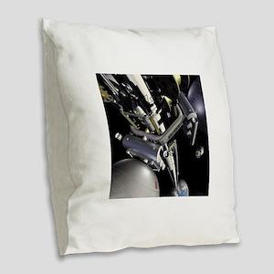 space elevator Burlap Throw Pillow