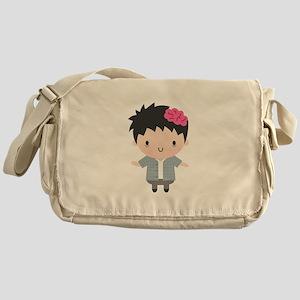 Cute Little Zombie Boy Halloween Messenger Bag