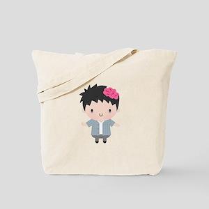 Cute Little Zombie Boy Halloween Tote Bag