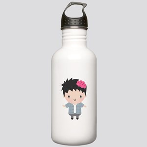 Cute Little Zombie Boy Halloween Water Bottle