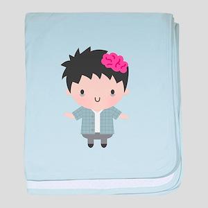Cute Little Zombie Boy Halloween baby blanket