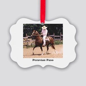 Peruvian Paso Picture Ornament