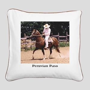 Peruvian Paso Square Canvas Pillow