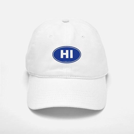 Hawaii HI Euro Oval Baseball Baseball Cap