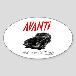 Avanti-Ahead of its Time- Oval Sticker
