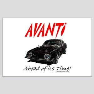 Avanti-Ahead of its Time- Large Poster
