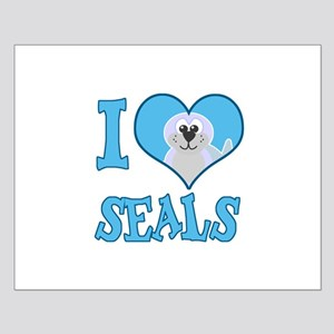 I Love (Heart) Seals Small Poster