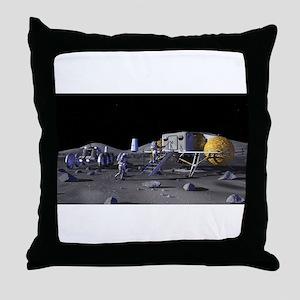 moon base Throw Pillow