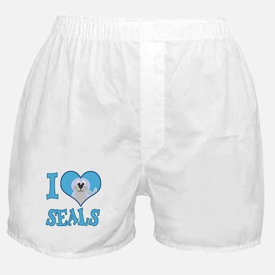 I Love (Heart) Seals Boxer Shorts
