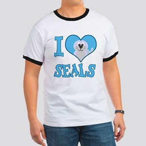 I Love (Heart) Seals Ringer T