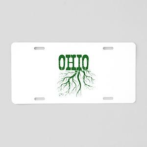 Ohio Roots Aluminum License Plate