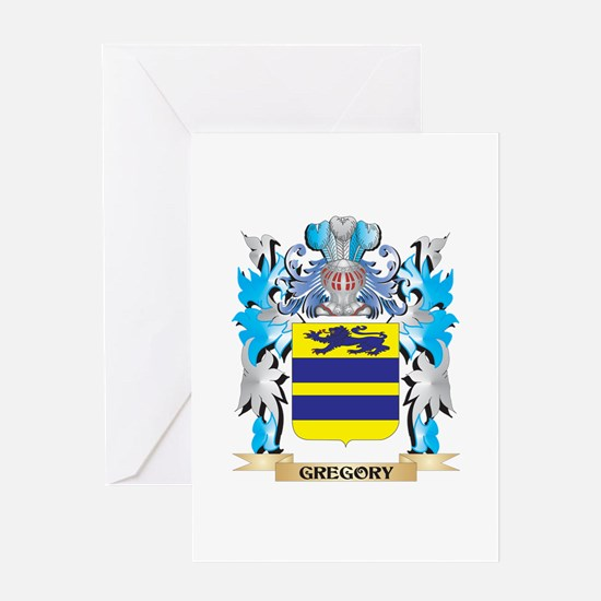 Gregory Coat of Arms - Family Crest Greeting Cards