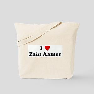 I Love Zain Aamer Tote Bag