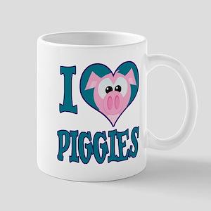 I Love (Heart) Piggies (Pigs) Mug