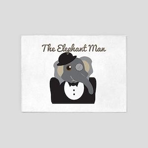 Elephant Man 5'x7'Area Rug