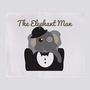 Elephant Man Throw Blanket