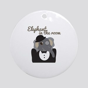 Elephant In Room Ornament (Round)