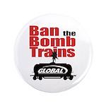 "Ban The Bomb Trains 3.5"" Button"