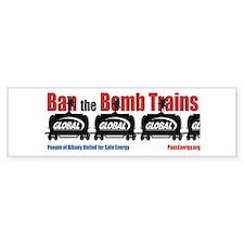 Ban The Bomb Trains Bumper Sticker