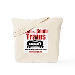 Ban The Bomb Trains Tote Bag