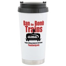 Ban The Bomb Trains Stainless Steel Travel Mug