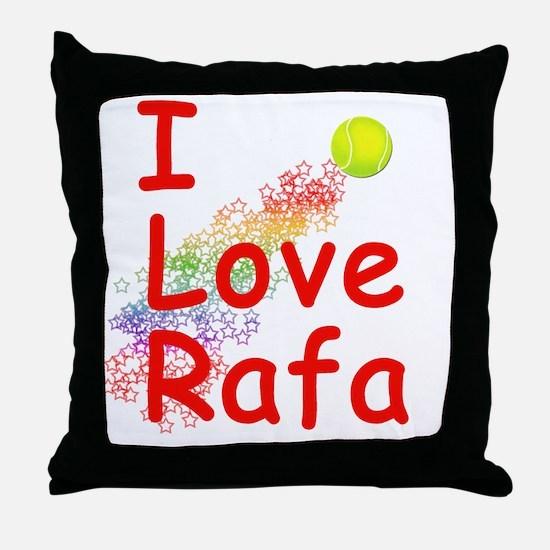 I Love Rafa Throw Pillow