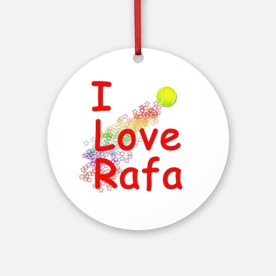 I Love Rafa Ornament (Round)