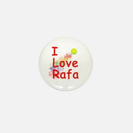 I Love Rafa Mini Button